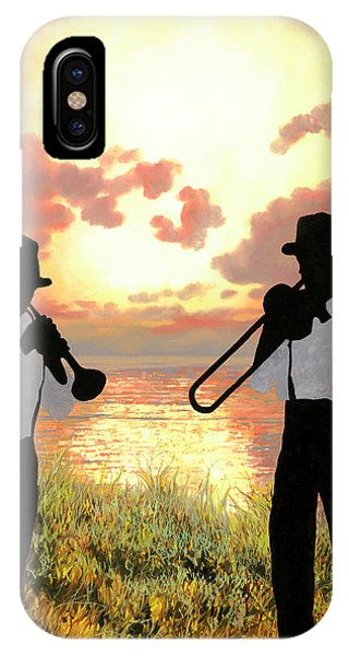 Trumpet iPhone X Case - Jazz Al Tramonto by Guido Borelli