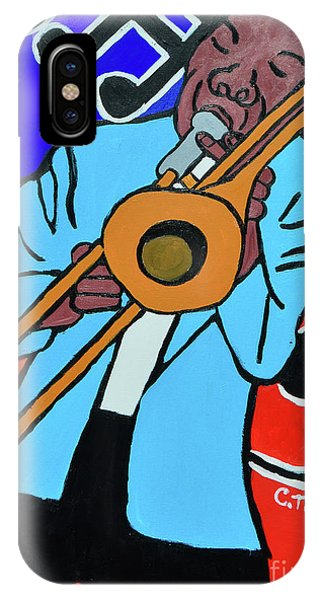 IPhone Case featuring the painting Jazz It  Up by Christopher Farris