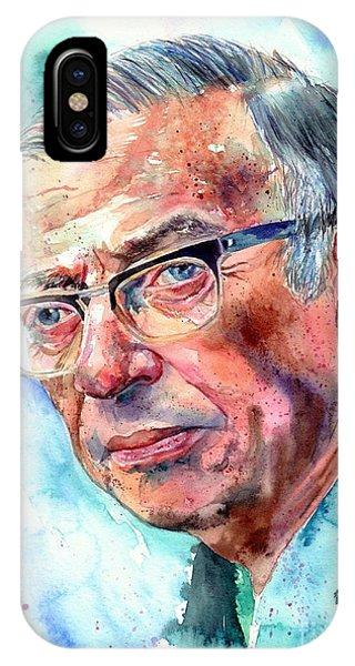 Nobel iPhone Case - Jean-paul Sartre Portrait by Suzann Sines