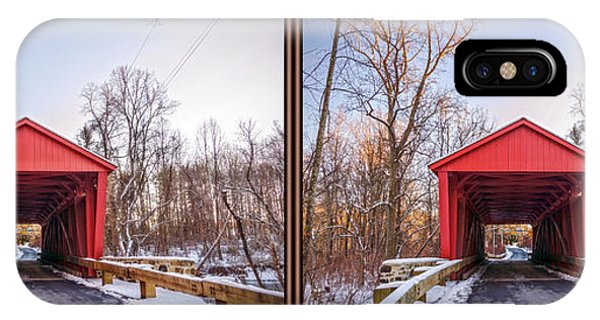 Kingsville iPhone Case - Jericho Covered Bridge 3d Stereo Crossview by Brian Wallace