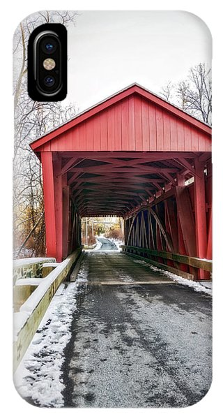 Kingsville iPhone Case - Jericho Covered Bridge Snow by Brian Wallace