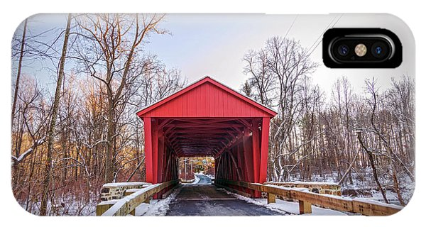 Kingsville iPhone Case - Jericho Covered Bridge Wide View by Brian Wallace