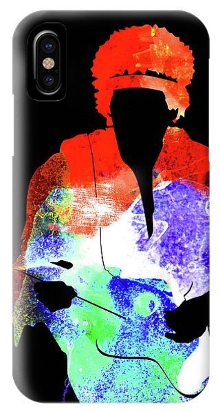 Print iPhone Case - Jimi Watercolor II by Naxart Studio