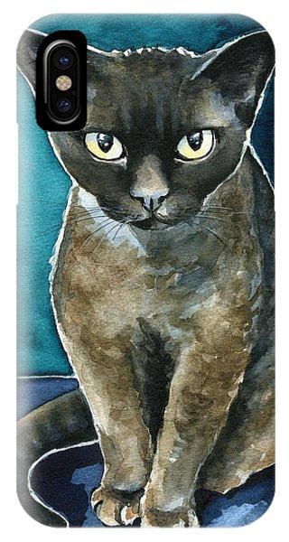 Joey - Devon Rex Cat Painting IPhone Case