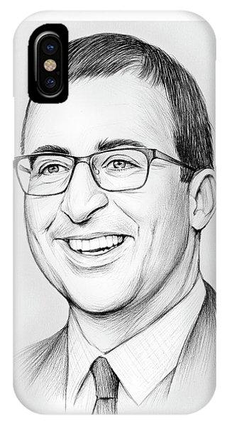 Graphite iPhone Case - John Oliver by Greg Joens