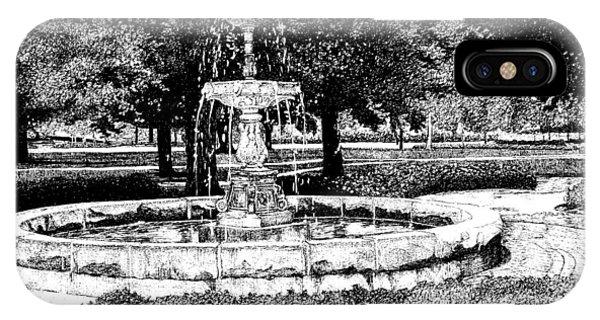 Purdue Boilermakers iPhone Case - John Purdue Fountain, Purdue University, West Lafayette, Indiana by Stephanie Huber