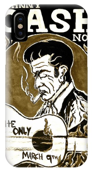 Johnny Cash iPhone Case - Johnny Cash Vintage Poster  by Pete Maier