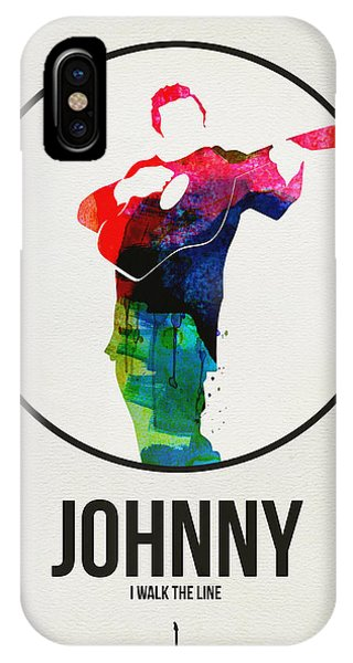 Johnny Cash iPhone Case - Johnny Cash Watercolor by Naxart Studio