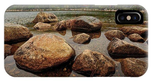 Jordon Pond Boulders IPhone Case