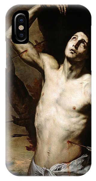 Gateway Arch iPhone Case - Jose De Ribera / 'saint Sebastian', 1636, Spanish School. by Jusepe de Ribera -1591-1652-