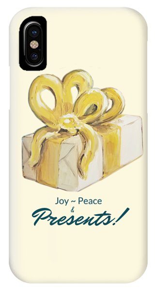 Joy, Peace And Presents IPhone Case