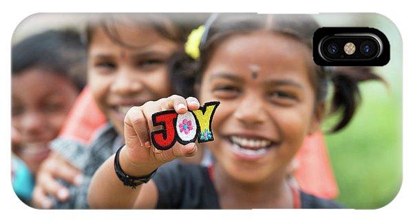 Indian Village iPhone Case - Joyful Kids by Tim Gainey