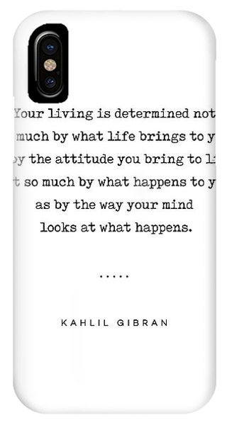 Simple iPhone Case - Kahlil Gibran Quote 04 - Typewriter Quote - Minimal, Modern, Classy, Sophisticated Art Prints by Studio Grafiikka