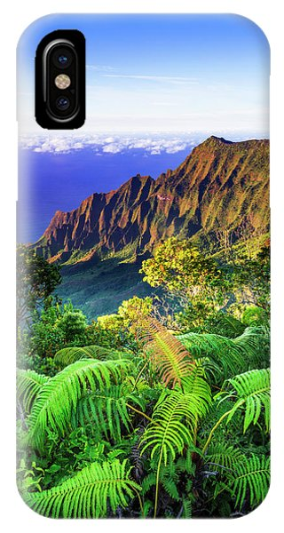Kalalau Valley And The Na Pali Coast Phone Case by Russ Bishop
