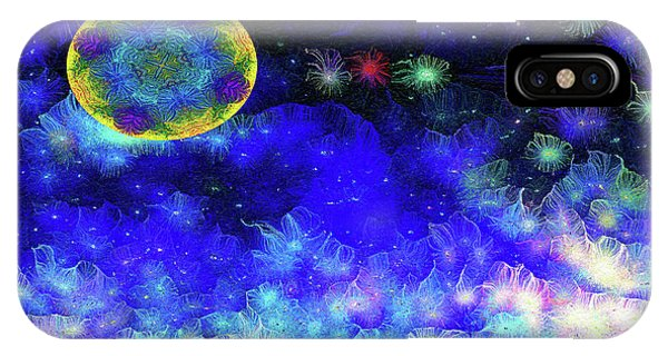 IPhone Case featuring the mixed media Kaleidoscope Moon For Children Gone Too Soon Number 1 - Ascension  by Aberjhani