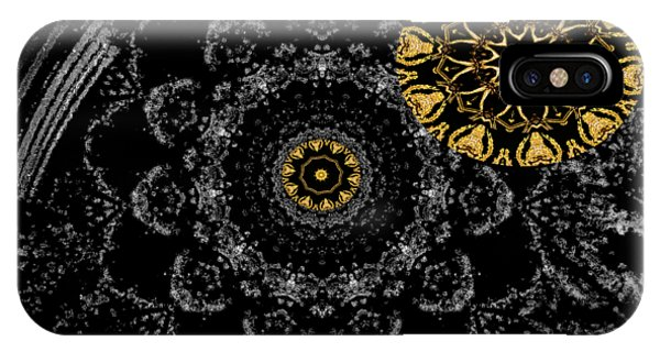 IPhone Case featuring the digital art Kaleidoscope Moon For Children Gone Too Soon Number 2 - Faces And Flowers by Aberjhani