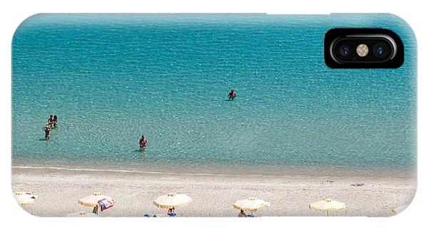 Travel Destination iPhone Case - Kallithea Sunny Beach And Summer Resort by Ververidis Vasilis