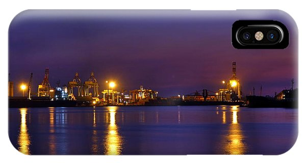 IPhone Case featuring the photograph Kaohsiung Port At Dusk by Yali Shi