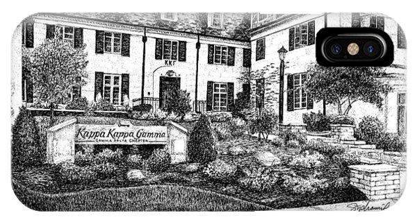 Purdue Boilermakers iPhone Case - Kappa Kappa Gamma Sorority House, Purdue University, West Lafayette, Indiana by Stephanie Huber