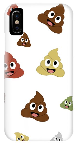Toilet Humor iPhone Case - Kawaii Types Of Poops  by Shawlin