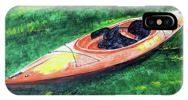 Kayak In The Grass IPhone Case