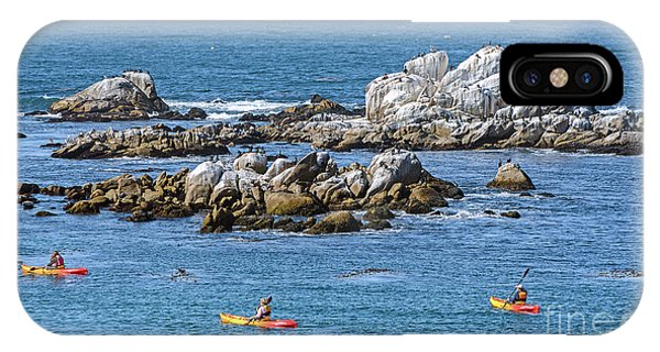 Kayakers Experience Bird Rock At Pacific Grove IPhone Case