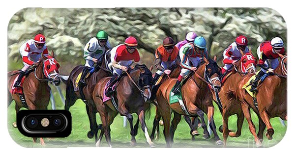 Keeneland Down The Stretch IPhone Case