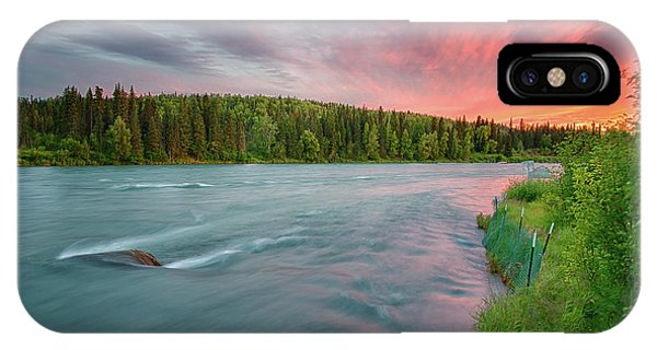IPhone Case featuring the photograph Kenai River Alaska Sunset by Nathan Bush