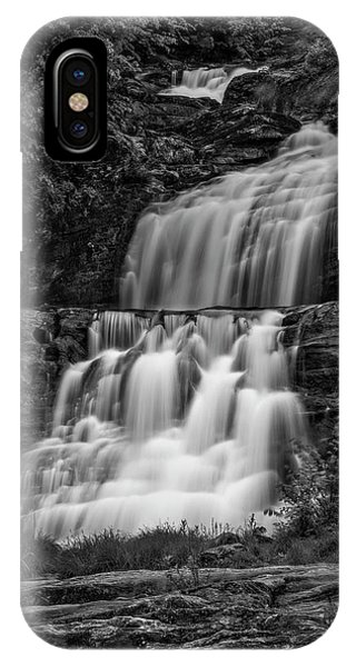 iPhone Case - Kent Falls State Park Ct Bw by Susan Candelario