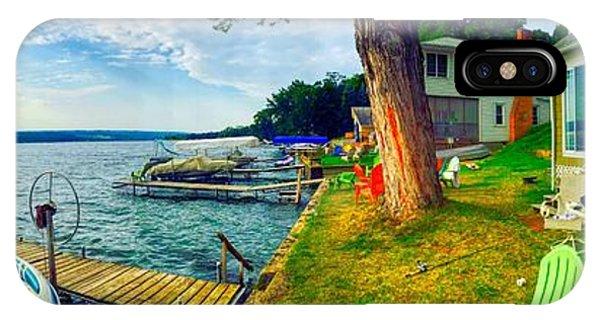 Keuka Lake Mornings Panorama IPhone Case