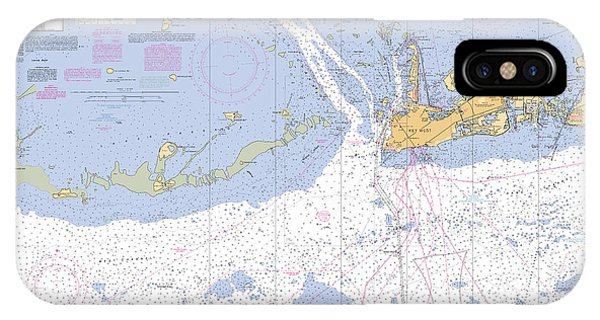 Key West Harbor And Approaches, Noaa Chart 11441 IPhone Case