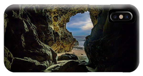 Keyhole Cave In Malibu IPhone Case