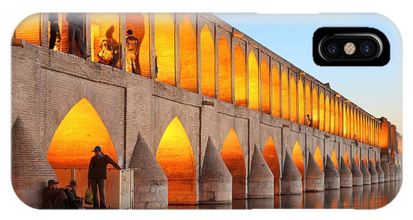 Spirituality iPhone Case - Khajoo Bridge Over Zayandeh River At by Vladimir Melnik