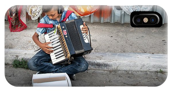 Kid Playing Accordeon IPhone Case