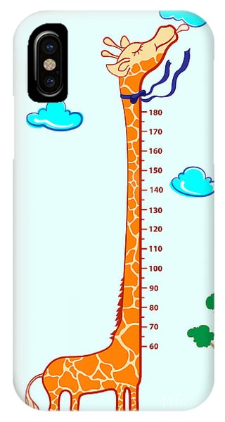 Small iPhone Case - Kids Height Scale In Giraffe Vector by Roberto Chicano