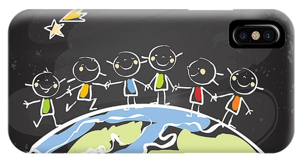 Harmony iPhone Case - Kids Helping Each Other, Global by Lavitrei
