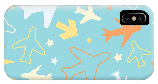 Seamless iPhone Case - Kids Pattern Background With Color by Barkarola