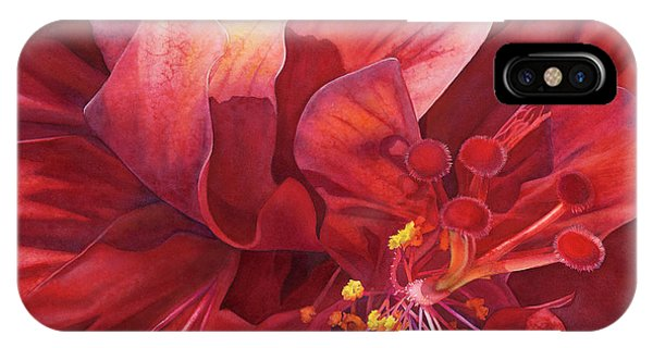 Hibiscus Flower iPhone Case - Kilauea's Kiss by Sandy Haight