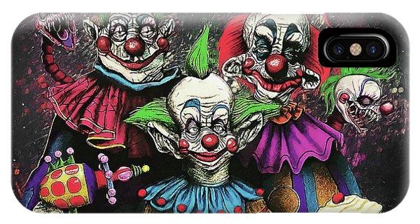 Dark Humor iPhone Case - Killer Klowns From Outer Space by Zapista Zapista