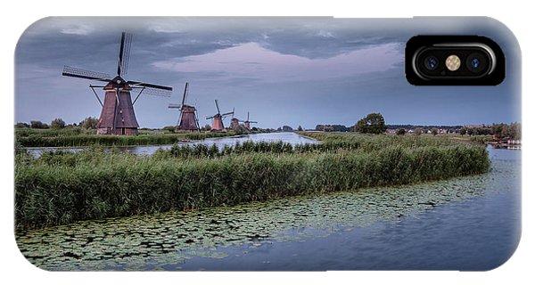Kinderdijk Dark Sky IPhone Case