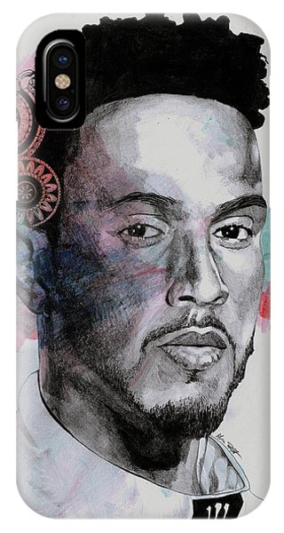 1 iPhone Case - King Hammer - Tribute To Lewis Hamilton by Marco Paludet