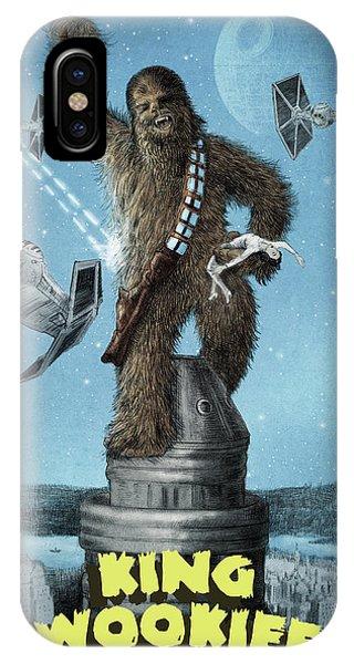 King iPhone Case - King Wookiee by Eric Fan