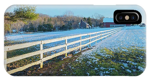 Kingsville iPhone Case - Kingsville Farm And Fence by Brian Wallace