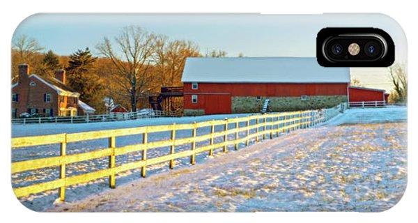 Kingsville iPhone Case - Kingsville Farm In Winter by Brian Wallace