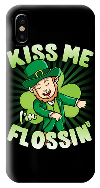 St. Patricks Day iPhone Case - Kiss Me Im Flossin Floss St Patricks Day by Flippin Sweet Gear