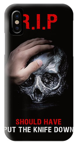 IPhone Case featuring the digital art Knife Crime Part 3 - Rest In Peace by ISAW Company