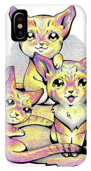 Kolorful Kitties IPhone Case