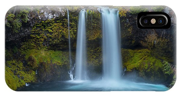IPhone Case featuring the photograph Koosah Falls, Autumn  by Matthew Irvin
