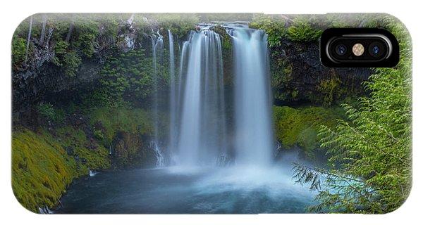 IPhone Case featuring the photograph Koosah Falls, Summer by Matthew Irvin