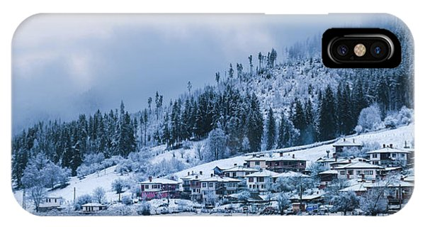 IPhone Case featuring the photograph Koprivshtica Winter Panorama by Milan Ljubisavljevic
